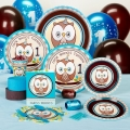 Owl turning 1 Blue Premium Party Pack for 8 